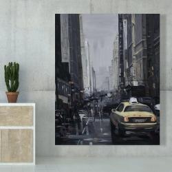 Canvas 48 x 60 - New york in the dark