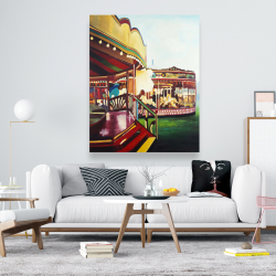 Canvas 48 x 60 - Carousel in a carnaval