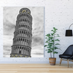 Canvas 48 x 60 - Outline of tower of pisa in italy