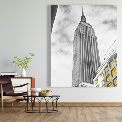 Canvas 48 x 60 - Outline of empire state building