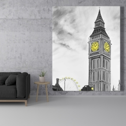 Canvas 48 x 60 - Outline of big ben in london