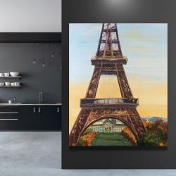 Canvas 48 x 60 - Eiffel tower by dawn