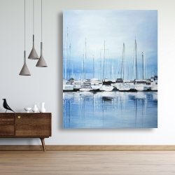 Canvas 48 x 60 - Boats at the dock