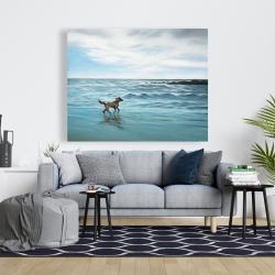 Canvas 48 x 60 - Dog on the beach