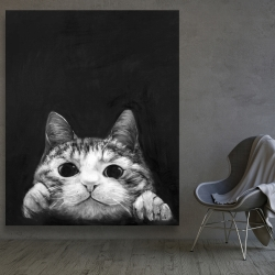 Canvas 48 x 60 - Curious cat