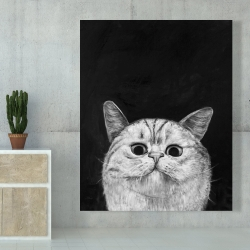 Canvas 48 x 60 - Watching cat