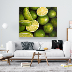 Canvas 48 x 60 - Basket of limes