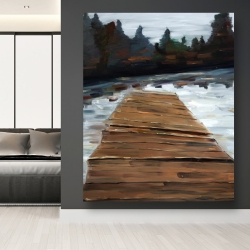Canvas 48 x 60 - Dock and lake