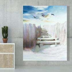 Canvas 48 x 60 - Break at the beach