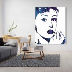 Canvas 48 x 60 - Audrey hepburn: cigarillo