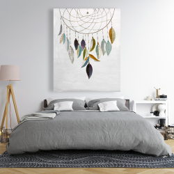 Canvas 48 x 60 - Dreamcatcher with feathers