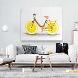 Canvas 48 x 60 - Lemon wheel bike