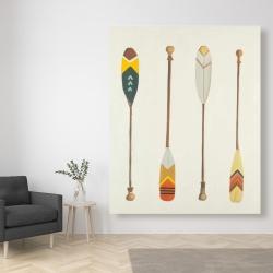Canvas 48 x 60 - Canoe paddles