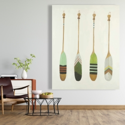 Canvas 48 x 60 - Colorful nautical oars