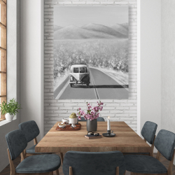 Canvas 48 x 60 - Car on the road