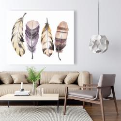 Canvas 48 x 60 - Purple feather set