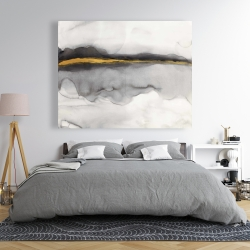 Canvas 48 x 60 - Gold stripe abstract