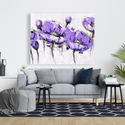 Canvas 48 x 60 - Abstract purple flowers