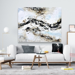 Canvas 48 x 60 - Abstract and texturized paint splash