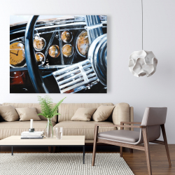 Canvas 48 x 60 - Vintage car interior