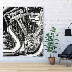 Canvas 48 x 60 - Mechanism of a motorcycle