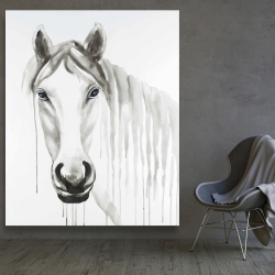 Canvas 48 x 60 - Solitary white horse