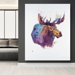 Canvas 48 x 60 - Abstract moose
