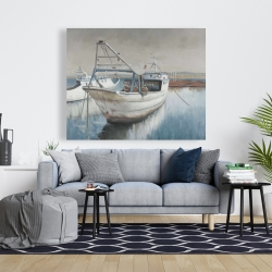 Canvas 48 x 60 - Fishing boat desatured