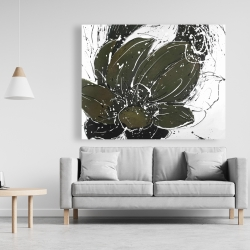 Canvas 48 x 60 - Abstract flower with paint splash