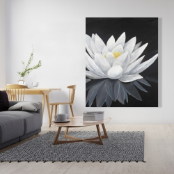 Canvas 48 x 60 - Lotus flower with reflection