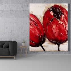 Canvas 48 x 60 - Two red tulips