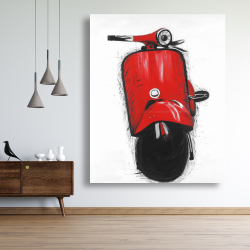 Canvas 48 x 60 - Red italian scooter