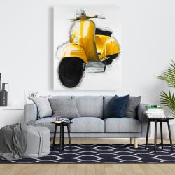 Canvas 48 x 60 - Yellow italian scooter