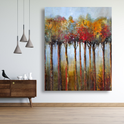 Canvas 48 x 60 - Colorful leaves trees