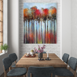 Canvas 48 x 60 - Abstract and colorful forest