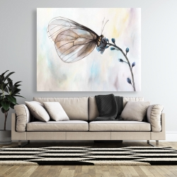 Canvas 48 x 60 - Butterfly on blue flowers