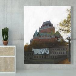 Canvas 48 x 60 - Le château de frontenac in autumn
