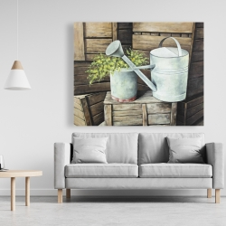 Canvas 48 x 60 - Vintage watering can