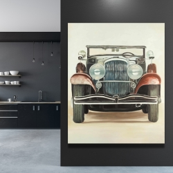 Canvas 48 x 60 - Old 1920s luxury car