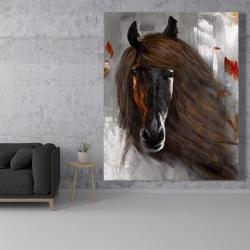 Canvas 48 x 60 - Proud brown horse