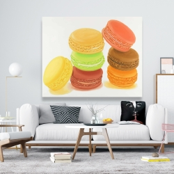 Canvas 48 x 60 - Delicious macaroons