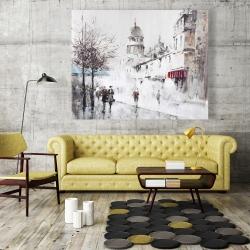 Canvas 48 x 60 - Gray city street