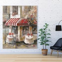 Canvas 48 x 60 - Sunny restaurant terrace