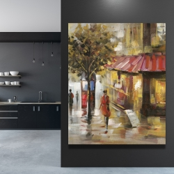 Canvas 48 x 60 - Abstract street with passers