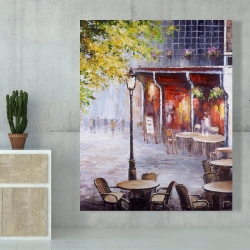 Canvas 48 x 60 - Outdoor restaurant by a nice day