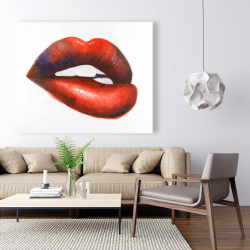 Canvas 48 x 60 - Beautiful red mouth