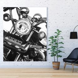 Canvas 48 x 60 - Realistic motorcycle