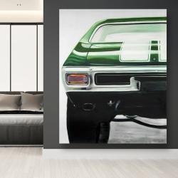Canvas 48 x 60 - Classic dark green car