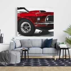 Canvas 48 x 60 - Classic red car