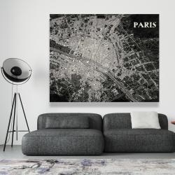 Canvas 48 x 60 - Airplane satellite view